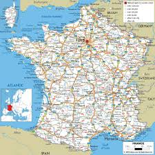 Large Printable Map Of Usa by Large Detailed Road Map Of France With All Cities And Airports