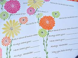 to be cards bridal shower wish cards advice for the to be