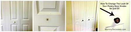 how to change the look of your pantry door knobs