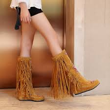 womens boots burning womens suede fringe boots 2015 autumn winter fashion brand