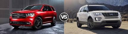 compare dodge durango compare 2017 dodge durango vs ford explorer