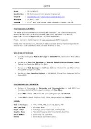 Sample Computer Engineering Resume Electronics And Communication Engineering Resume Resume For Your