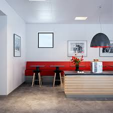 Red Kitchen Lights by Bold Red Accented Kitchen Dining With Industrial Pendant Lighting