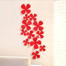 Wall Decor Stickers by Creative Wall Decor Sticker Plastic 3d Flower Wall Sticker Buy