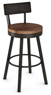 Bar Stool With Backrest Charming Bar Stool With Backrest Of Artefac Swivel Metal N