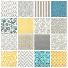 Teal Yellow And Grey Bedroom Fabric For Grey U0026 Yellow Rooms Fabric Design Fabrics And Gray