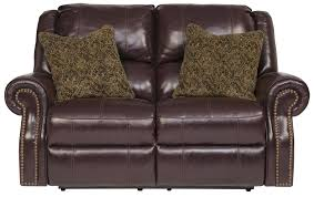 Sofa Loveseat Recliner by Top Grain Leather Match Reclining Power Loveseat With Nailhead
