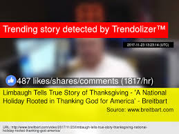 limbaugh tells true story of thanksgiving 039 a national