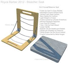 diy bleacher stadium seat 2 by royce barber on deviantart