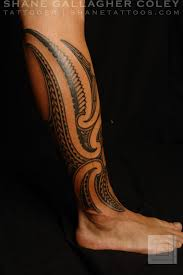 Lower Leg Tattoo Ideas Polynesian Tattoos Maori Polynesian Fusion Calf Tattoo Tattoo