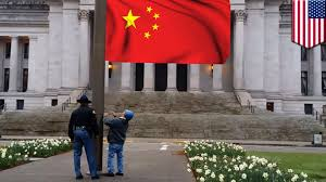 Chineses Flag Communist Flag Waving Tea Partiers Get Help From State Trooper To