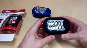 hyper tough led shop light led work utility light flashlight magnetic swivel hyper tough youtube