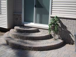 brick paver rounded offset steps very nice look steps and