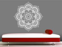 mandala wall decal sticker yoga om namaste yoga decor wall