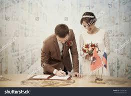 wedding registration wedding registration groom stock photo 733256749