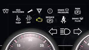peterbilt dash warning lights international trucks dashboard lights youtube