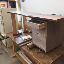 walnut three drawer desk u2014 jd lohr of woodworking