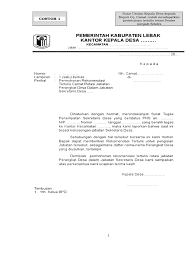 contoh surat lamaran kerja dengan cq contoh format rotasi menjadi sekdes