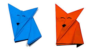 origami animals cute and easy origami fox for kids learn to
