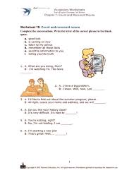 count and noncount nouns 3rd 5th grade worksheet lesson planet