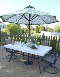 Umbrella Side Table Patio Side Table From Old Umbrella Stand Diyideacenter Com