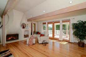 living room with doors hardwood floors in fair oaks ca