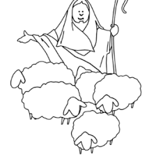 jesus the good shepherd coloring pages the good shepherd the lost sheep coloring page â crafting the