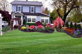 Landscaping Ideas For Front Of House by Outdoor U0026 Garden Large Front Yard Landscaping Design With Expanse