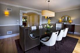 Two Tone Walls With Chair Rail Inspired Chair Rail Ideas Contemporary Dining Room