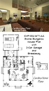 stone craftsman bungalow house plan sg 1677 aa with wrap around