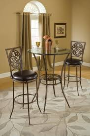 Bar Height Bistro Table Marsala Bar Height Bistro Dining Three Set Gray Rust