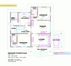 Kerala House Plans Single Floor Fantastic 3 Bhk Single Floor Kerala House Plan And Elevation