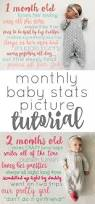 monthly baby stats picture tutorial baby monthly pictures