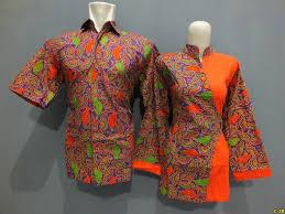 desain baju batik untuk acara resmi model baju batik kantor pria wanita modern