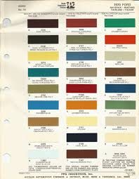 1970 ford mustang oem car paint colors