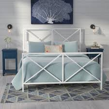 beachcrest home ormond beach all in one x gloss white metal bed
