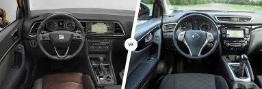 qashqai nissan interior seat ateca vs nissan qashqai suv comparison carwow