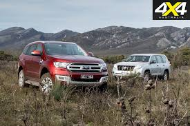 ford everest trend vs toyota prado gx review 4x4 australia