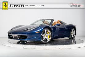 chrome ferrari 458 spider used 2012 ferrari 458 spider for sale plainview near long island