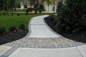 Concrete Patio With Pavers Brick Concrete Pavers Outdoor Contracting