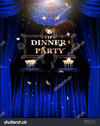 dinner party music vip dinner party invitation card blue stock vector 695676871