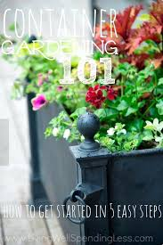 piled on pots easy container gardening ideas easy container