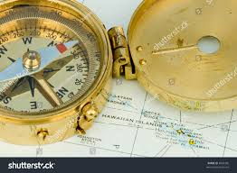 map of usa with compass antique compass used by explorers finding stock photo 4586305