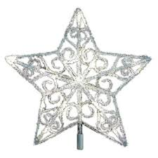12 in 18 light led silver acrylic five tree topper tf06