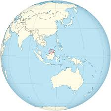 brunei map in world location of the brunei in the world map