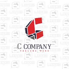 letter c logo 3d logo iconic logo abstract business vector