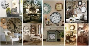 large wall clock decorating ideas
