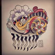 terrific traditional comb tattoo design by frank ready