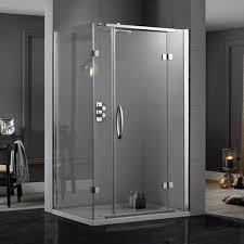 900 Shower Door Aquadart Inline Hinged 2 Sided Shower Enclosure 1000 X 900 Aq1027