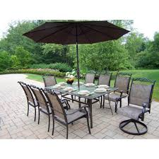 7pc Patio Dining Set Outdoor Garden Big Lots Patio Dining Set For 8 Featuring Glass